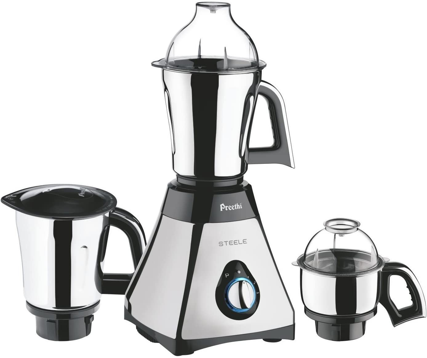 preethi-steele-supreme-550w-3-jar-mixer-grinder-110-volts